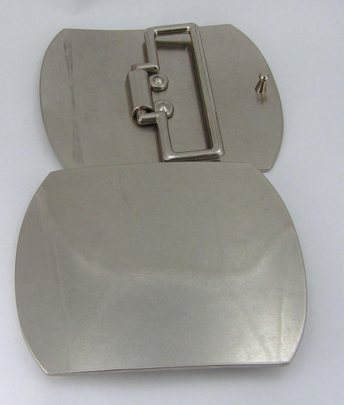 7345e06e255a70 1 Schließe Gürtelschnalle Schnalle 6,4 cm silber rostfrei ! NEU 07.54
