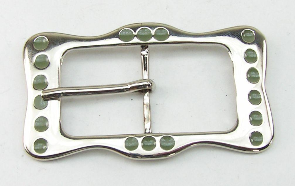 grün Emaille 05.20//300 Gürtelschnalle 3 cm silber 1 Schließe