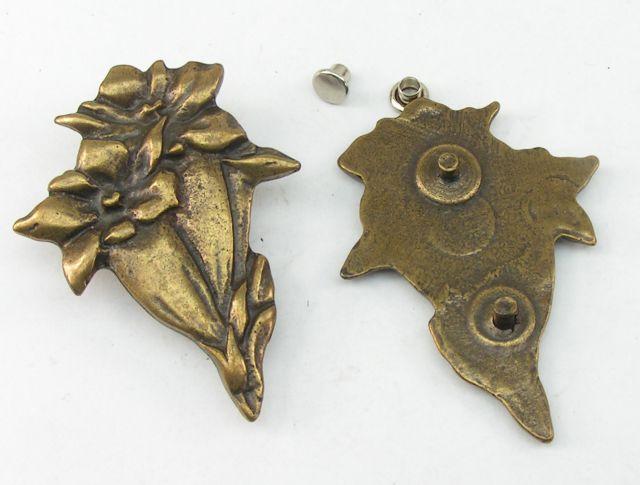 1  Anhänger Malteserkreuz und Wappenplatte altmessing 02.31//684