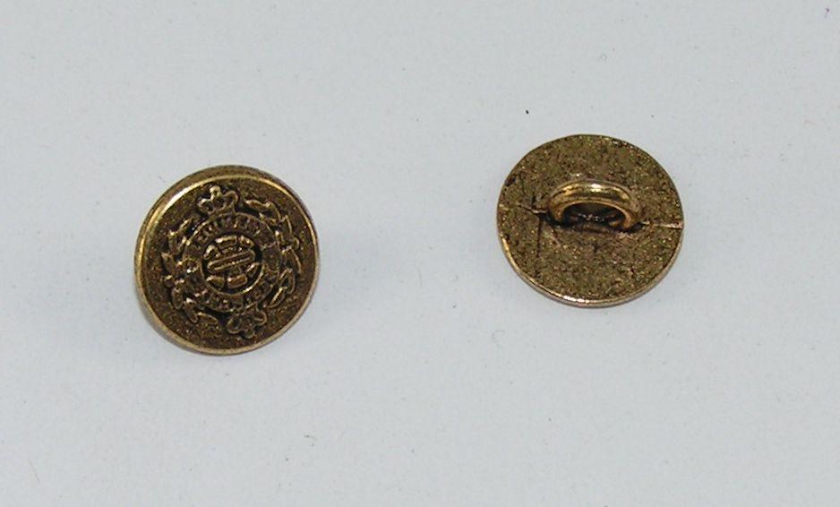 10 Metallknöpfe Knöpfe Wappenknöpfe 15,4mm gold  07.19//591
